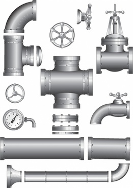 Pipeline Pipe. Vector Clipart