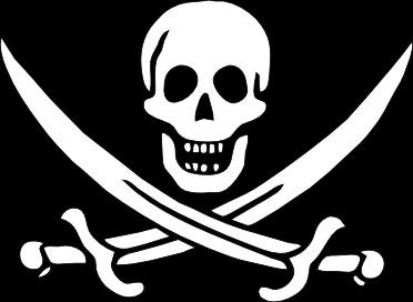 Pirate Flag Jack Rackham clip art