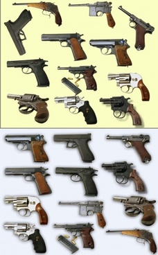 pistol psd layered picture