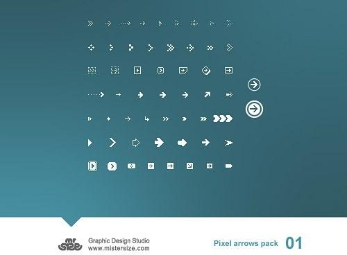 Pixel Arrows Pack 01