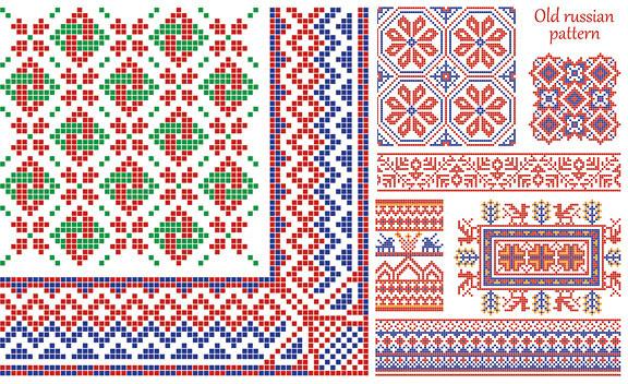 pixel floral frame vector
