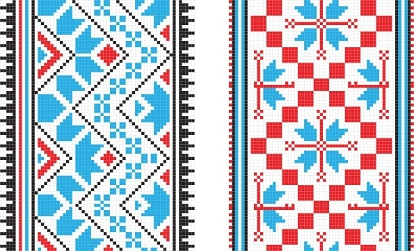 pixel pattern 01 vector