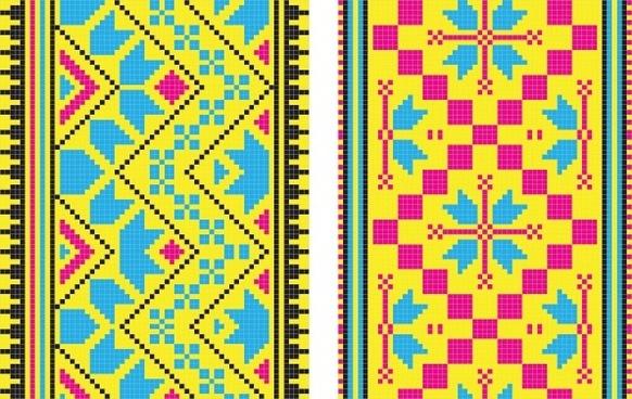pixel pattern 02 vector