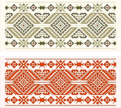 traditional pattern templates classical symmetric pixels decor