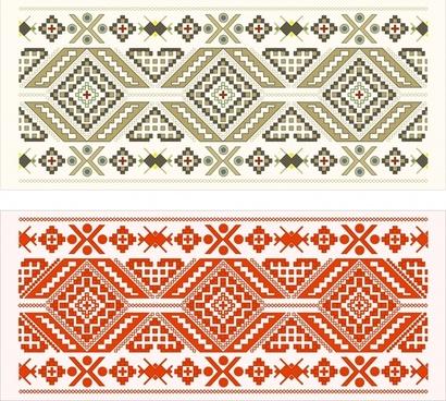 traditional pattern templates classical symmetric pixels decor