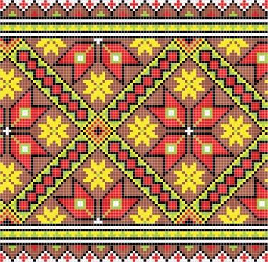 fabric pixel pattern template colorful flat symmetrical decor