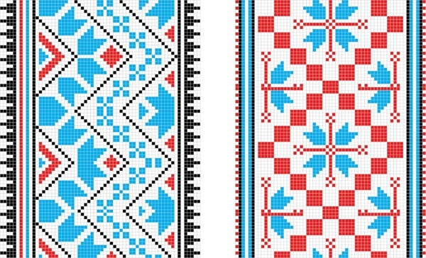 fabric pattern templates pixel decor classical repeating designa