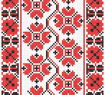 fabric pattern templates colorful retro traditional decor