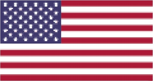 Pixelated Flag