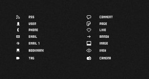 pixelated icons psd layered