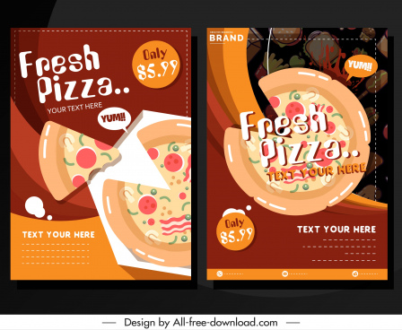 pizza advertising banner colorful classical decor