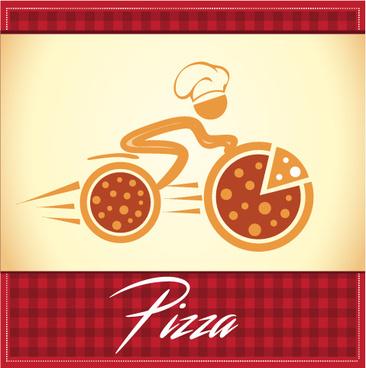 pizza delivery logo vector
