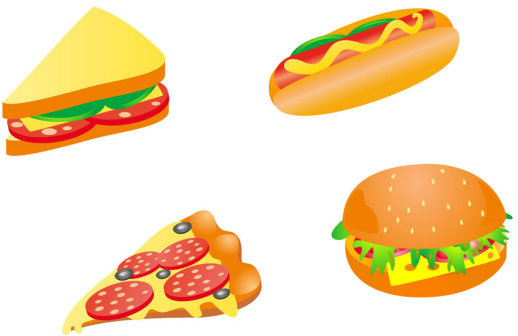 pizza fast food hamburger graphics