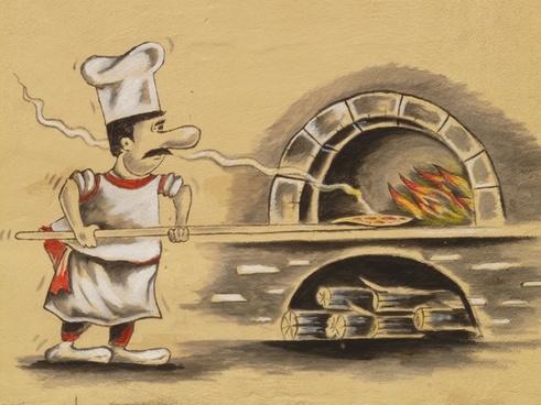 pizza maker pizzeria pizza oven