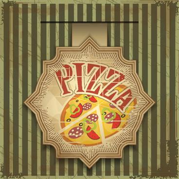 pizza menu elements vector