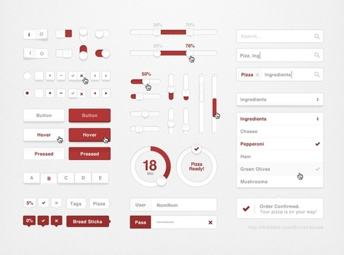 Pizza UI Kit