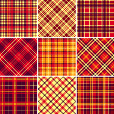 plaid fabric patterns seamless vector