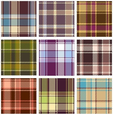 plaid patterns 02 vector