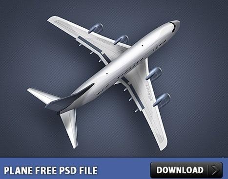 Plane Free PSD file