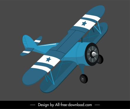 plane model icon classic 3d sketch