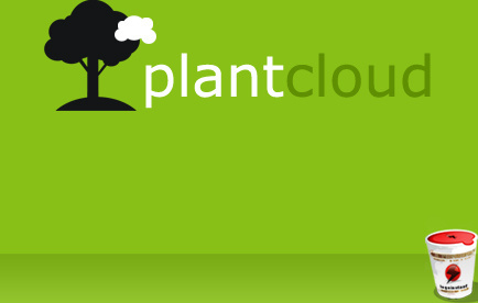 plant and cloud background vector