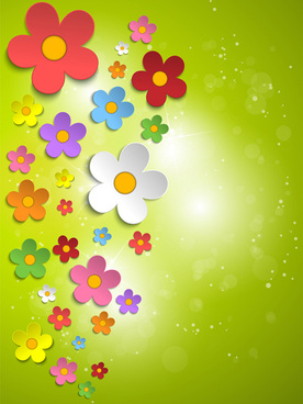 plant and spring design vector