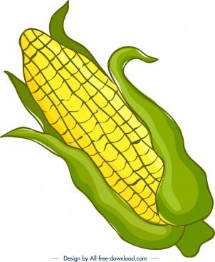 plant background corn icon colored handdrawn sketch