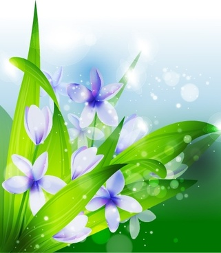 nature background colorful bokeh realistic petals leaves decor