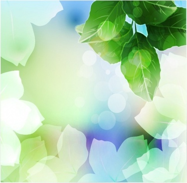 natural leaves background sparkling vivid blurred realistic decor