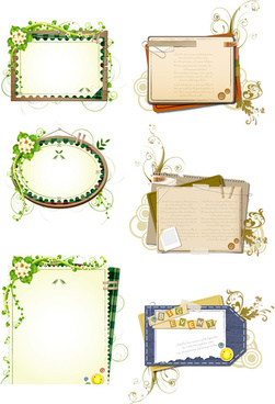 plant decorative text frames vector