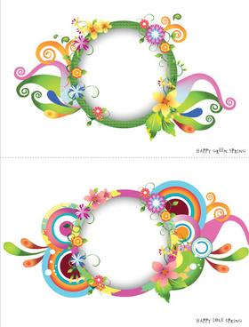 plant floral decorative frame vector