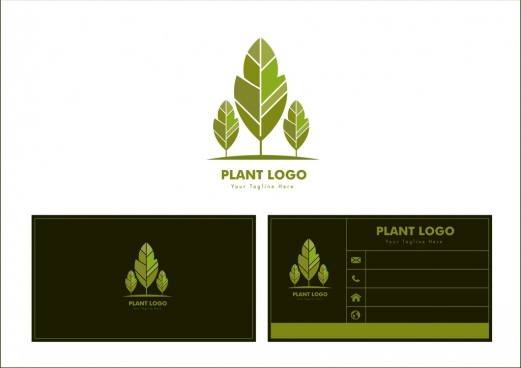plant logo design green tree icon ornament