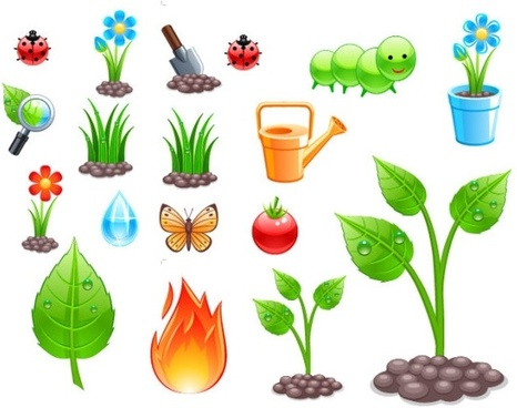 planting theme vector