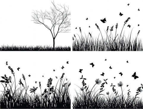 Download Grass Vector Black And White