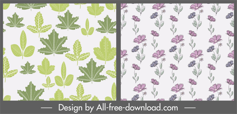 plants pattern templates leaf floras decor classica design