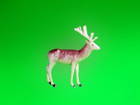 plastic reindeer