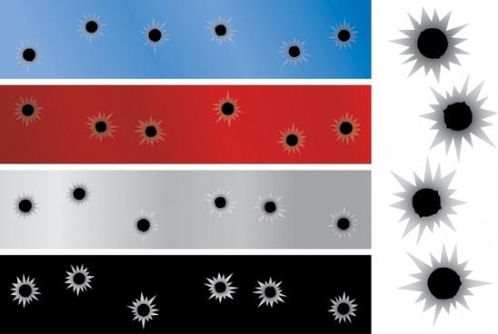 decorative background templates holes ornament colorful horizontal design