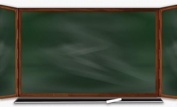 plate school blackboard