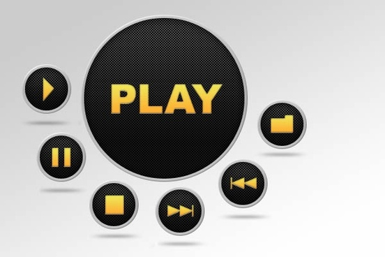play button psd layered