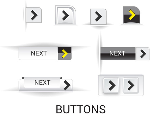 play buttons design with black and white background