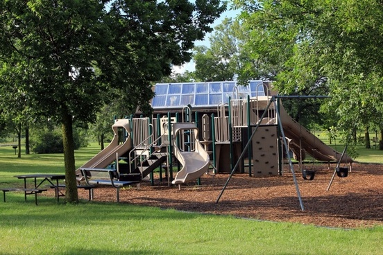 playground at richard bong recreation area wisconsin
