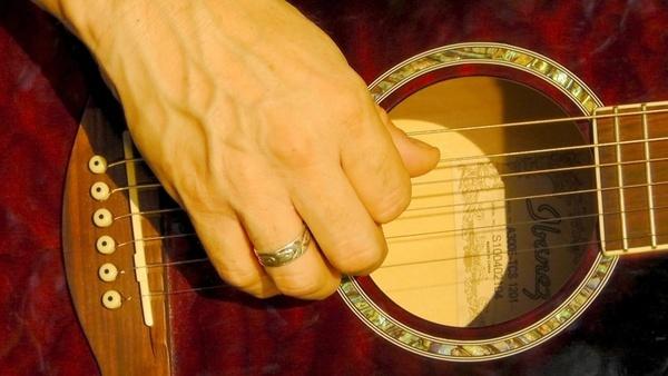plucking hand finger