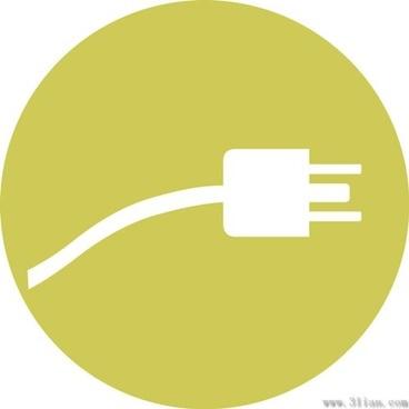 plug the small icon vector