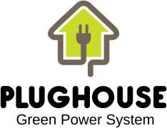 plug with house logo vector