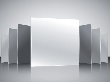 podium showcase with light design vector