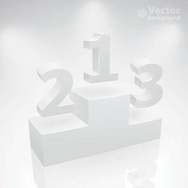 rating platform background shiny white 3d sketch