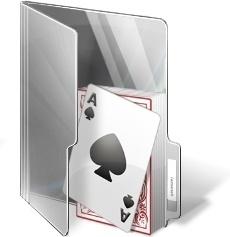 Poker card folder