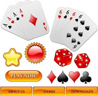 gambling webpage design elements shiny colored modern design