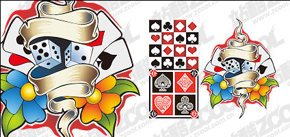 Poker element vector material
