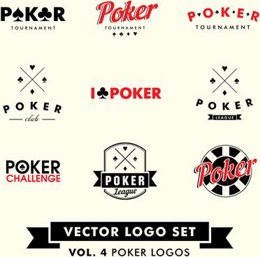 poker logos vector